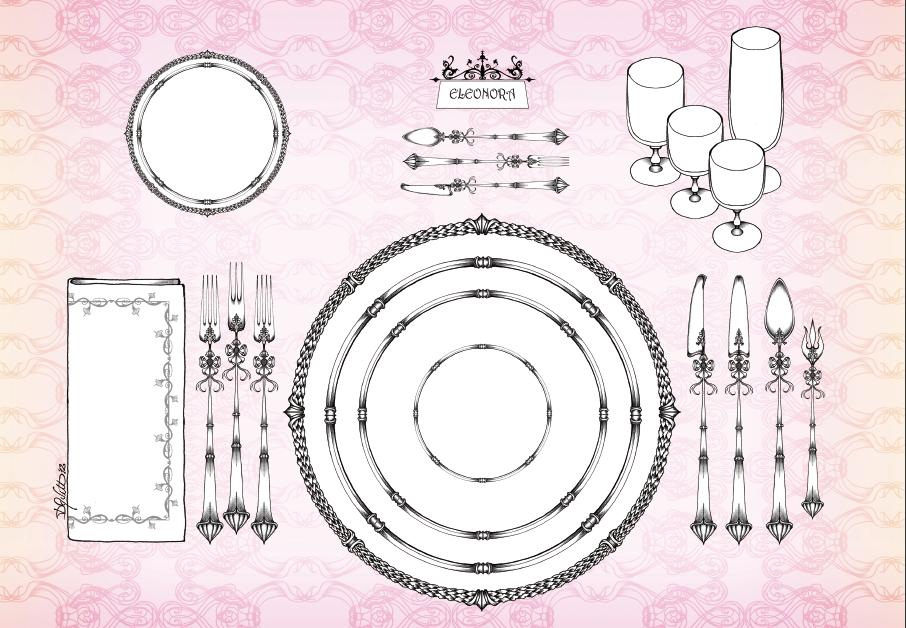 Esempi di mise en place per la vostra tavola il - Disposizione bicchieri a tavola ...
