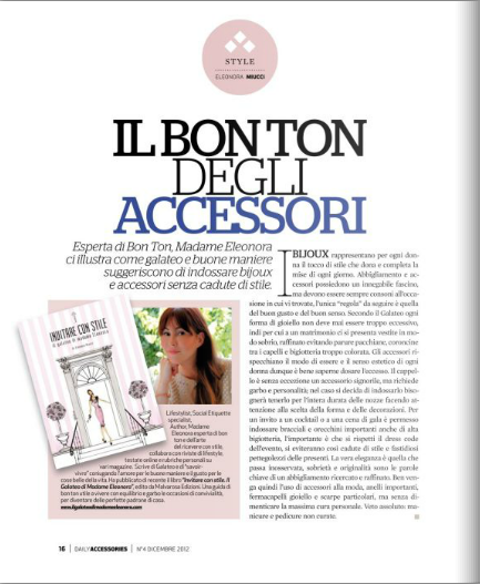 Giornale Daily accessories