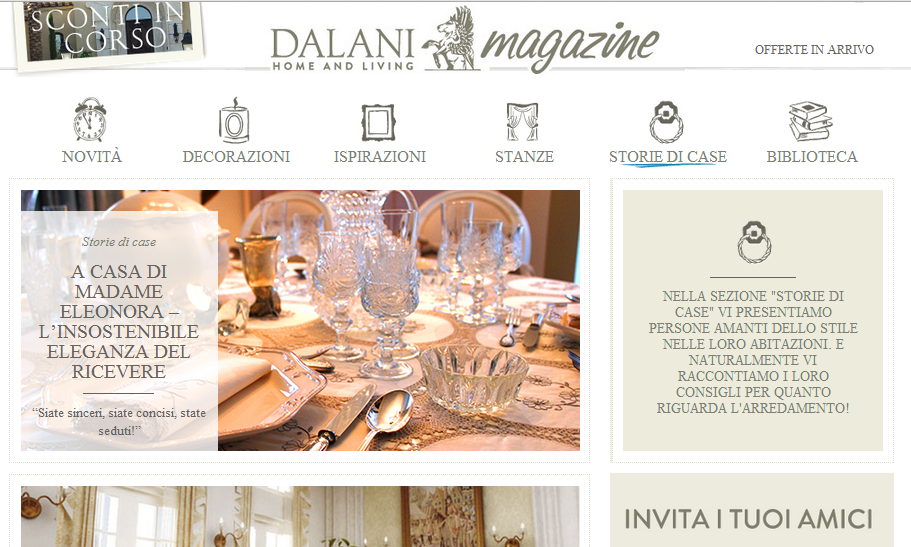 Intervista per home and living il galateo di for Dalani home and living