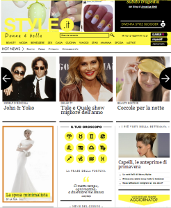 home page 28 marzo style