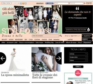 sposa minimalista style