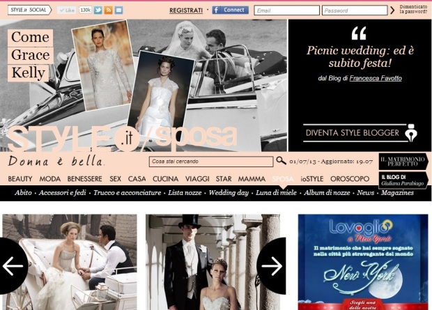 grace kelly per style.it in home page123