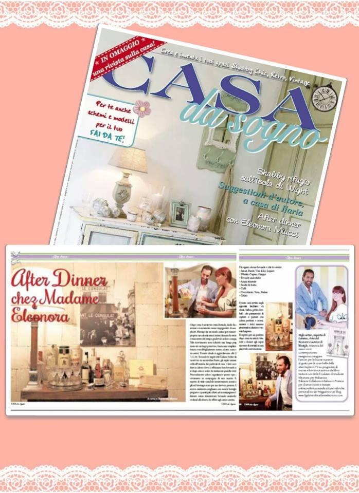 After dinner chez madame eleonora sulla rivista casa da for Rivista di case da sogno
