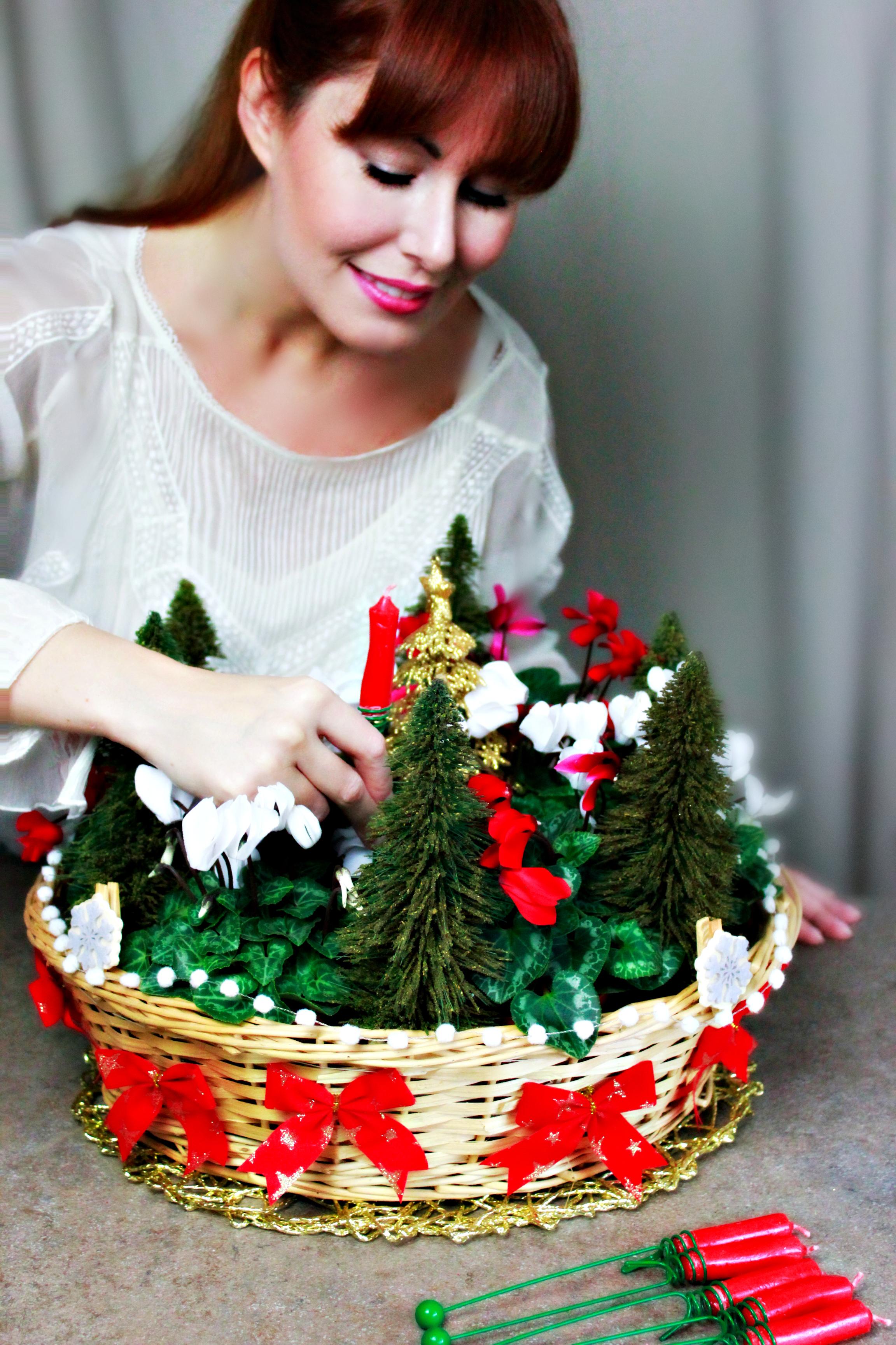 Creare Composizioni Per Natale diy – centrotavola natalizio home made con madame eleonora