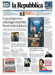 La Repubblica 20 dicembre 2014