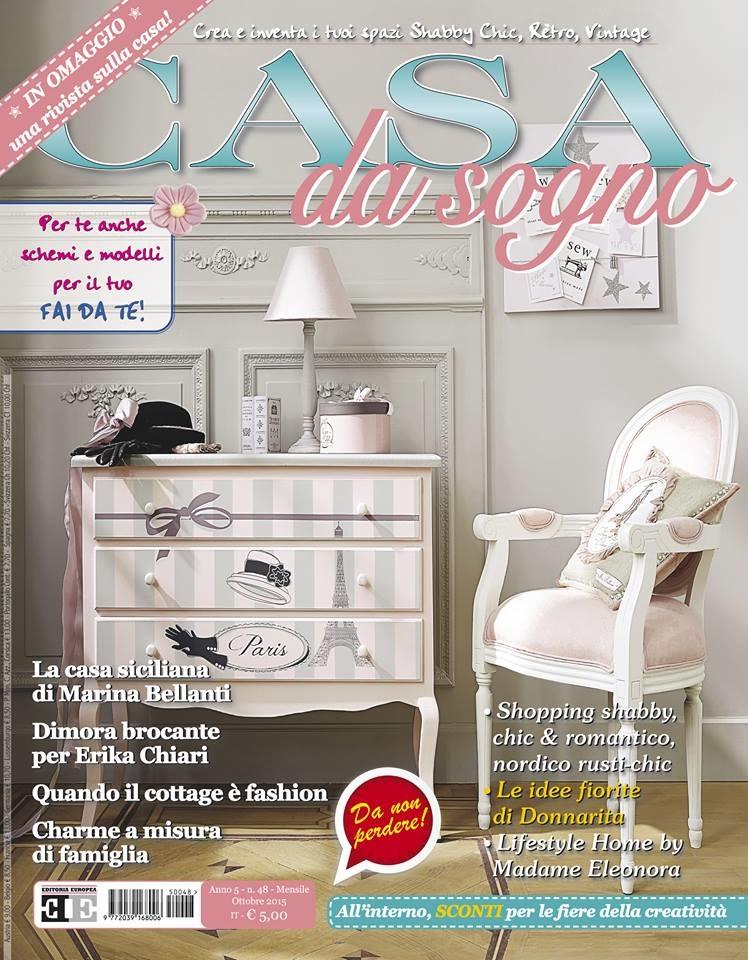 E in edicola la rivista casa da sogno di ottobre in for Rivista di case da sogno