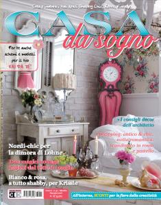 E in edicola la rivista casa da sogno di gennaio con la for Rivista di case da sogno
